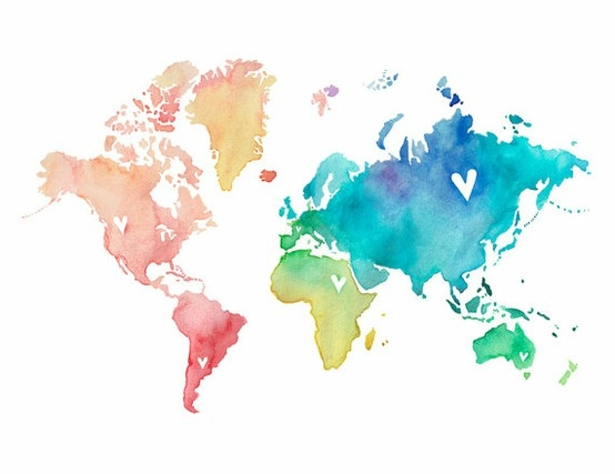 http://indulgy.com/post/NxW1DkHoM1/watercolor-world-map