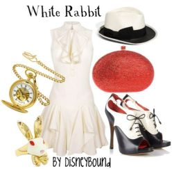 white rabbit disneybound.tumblr.com